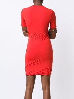 Twisted T-Shirt Dress T By Alexander Wang                                                                                                              красный цвет