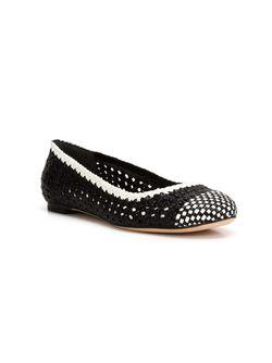 Woven Ballerina Shoes Alexander McQueen                                                                                                              чёрный цвет