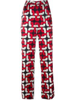 Пижамные Брюки С Геометрическим Принтом FOR RESTLESS SLEEPERS                                                                                                              красный цвет