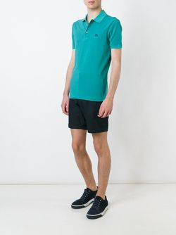 Embroidered Logo Polo Shirt Burberry Brit                                                                                                              зелёный цвет