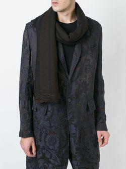 Trim Pattern Frayed Scarf UMA WANG                                                                                                              чёрный цвет