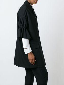 Frill Sleeve Double Breasted Coat Yohji Yamamoto                                                                                                              чёрный цвет