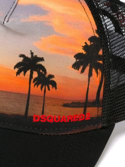 Palm Tree Baseball Cap Dsquared2                                                                                                              чёрный цвет
