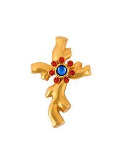 Cross Brooch CHRISTIAN LACROIX VINTAGE                                                                                                              серебристый цвет