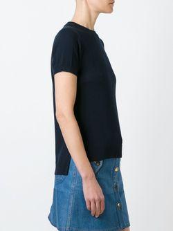 Джемпер С Короткими Рукавами Michael Michael Kors                                                                                                              синий цвет