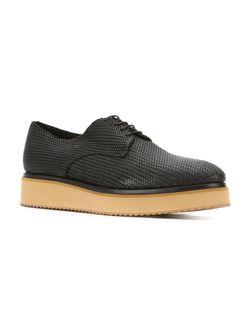 Contrasting Sole Lace-Up Shoes Raparo                                                                                                              черный цвет