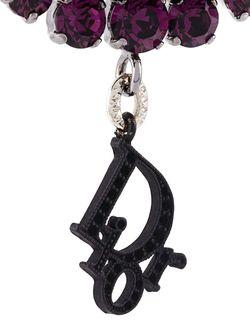 Défilé Crystal Clip-On Earrings Christian Dior Vintage                                                                                                              чёрный цвет