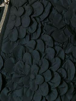 Пальто На Молнии С Цветочной Аппликацией Herno                                                                                                              чёрный цвет