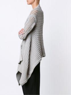 Asymmetric Cardigan Rick Owens                                                                                                              серый цвет