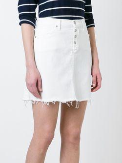 Short Denim Skirt 7 for all mankind                                                                                                              белый цвет