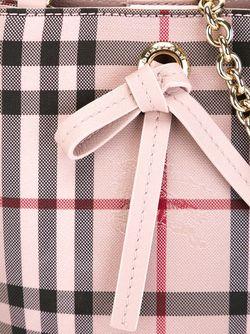 Маленькая Сумка-Мешок В Клетку Burberry                                                                                                              розовый цвет