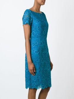 Кружевное Платье Diane Von Furstenberg                                                                                                              синий цвет