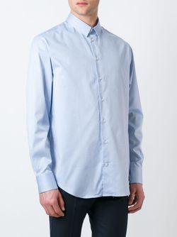 Классическая Рубашка На Пуговицах Armani Collezioni                                                                                                              синий цвет