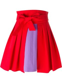 High Waist Colour Block Pleated Full Skirt Olympia Le-Tan                                                                                                              красный цвет