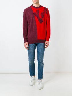 Two-Tone Jumper Kenzo                                                                                                              красный цвет