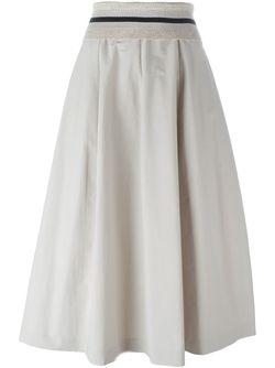 A-Line Skirt Brunello Cucinelli                                                                                                              серый цвет
