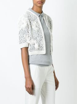 Cropped Knit Cardigan Brunello Cucinelli                                                                                                              белый цвет