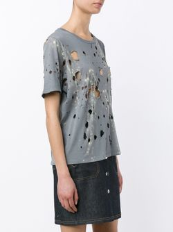 Twilight Distressed T-Shirt Filles A Papa                                                                                                              серый цвет