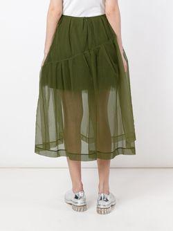 Petticoat Sheer Trim Detail Skirt Simone Rocha                                                                                                              зелёный цвет