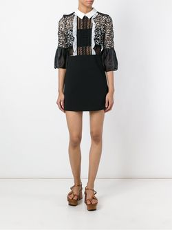 Lace Top Shirt Dress SELF-PORTRAIT                                                                                                              черный цвет