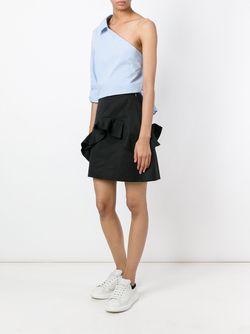 Ruffled Mini Skirt MSGM                                                                                                              черный цвет