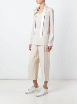 Блузка C V-Образным Вырезом Brunello Cucinelli                                                                                                              Nude & Neutrals цвет