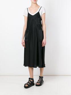 Платье На Тонких Лямках-Спагетти MM6 by Maison Margiela                                                                                                              черный цвет