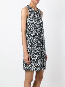 Dalmatian Print Short Dress BOUTIQUE MOSCHINO                                                                                                              чёрный цвет
