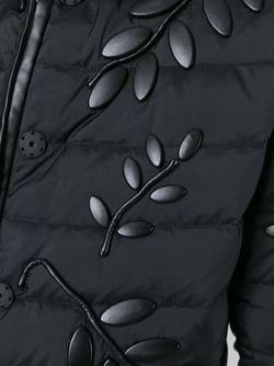 Пуховик С Лиственной Аппликацией Emporio Armani                                                                                                              чёрный цвет