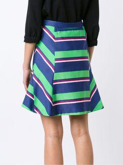 Striped High Waisted Skirt TANYA TAYLOR                                                                                                              зелёный цвет