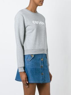 Logo Print Sweater Carven                                                                                                              серый цвет