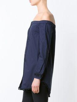 Рубашка С Открытыми Плечами Derek Lam 10 Crosby                                                                                                              синий цвет