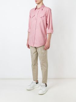 Micro Houndstooth Print Shirt Dsquared2                                                                                                              красный цвет
