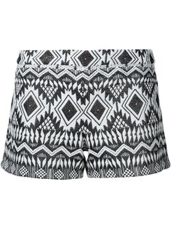 Aztec Patterned Shorts Alice + Olivia                                                                                                              белый цвет