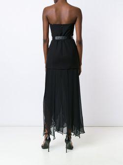 Strapless Draped Dress Halston Heritage                                                                                                              черный цвет