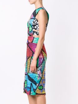 Grafitti Print Dress Nicole Miller                                                                                                              черный цвет