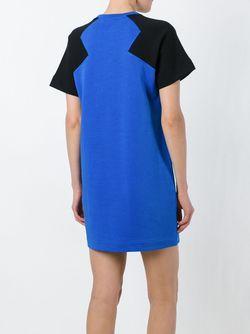 Платье-Толстовка С Контрастными Рукавами Kenzo                                                                                                              синий цвет