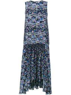Adonia Sleeveless Silk Dress Peter Pilotto                                                                                                              синий цвет