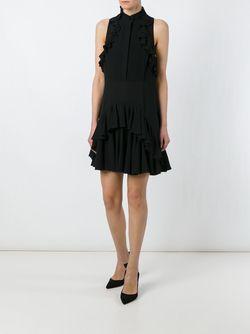 Ruffle Detail Dress Alexander McQueen                                                                                                              чёрный цвет