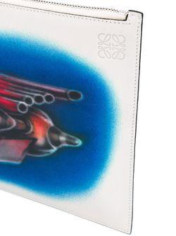 Клатч С Принтом Spray Rocket Loewe                                                                                                              белый цвет