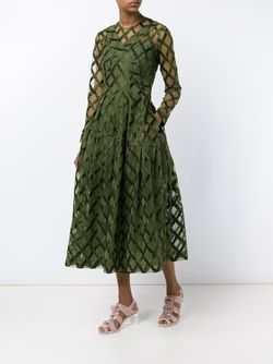 Rope Embroidered Long Sleeve Dress Simone Rocha                                                                                                              зелёный цвет