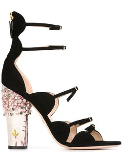 Embellished-Heel Sandals Giambattista Valli                                                                                                              чёрный цвет
