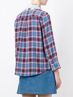 Plaid Button Down Shirt Marc Jacobs                                                                                                              синий цвет