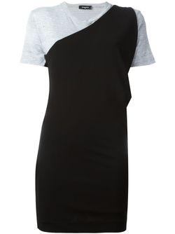 Платье-Футболка Dsquared2                                                                                                              черный цвет