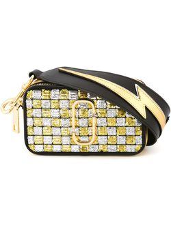 Small Snapshot Sequins Checker Crossbody Bag Marc Jacobs                                                                                                              чёрный цвет
