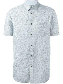 Leaf Print Shirt Diesel                                                                                                              белый цвет