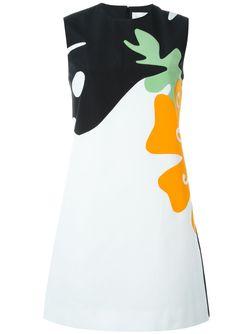 Платье С Принтом Victoria, Victoria Beckham                                                                                                              многоцветный цвет