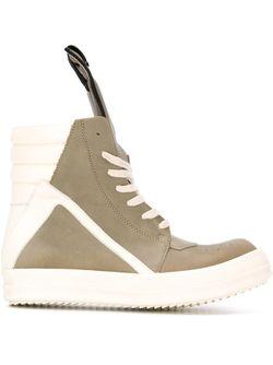 Geo Basket Hi-Top Sneakers Rick Owens                                                                                                              зелёный цвет