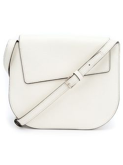 Asymmetric Flap Cross Body Bag Valextra                                                                                                              белый цвет