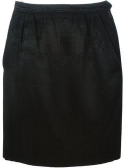 Мини-Юбка В Рубчик Saint Laurent                                                                                                              чёрный цвет